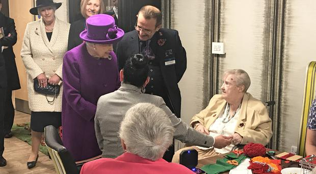 The Queen was visiting the Royal British Legion Industries village in Aylesford in Kent (Michael Drummond/PA)