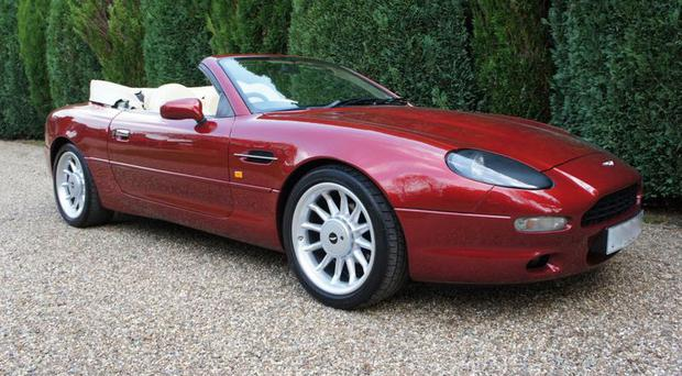 An Aston Martin DB7 car first owned by Sir Elton John (Baker Brothers of Surrey/PA)