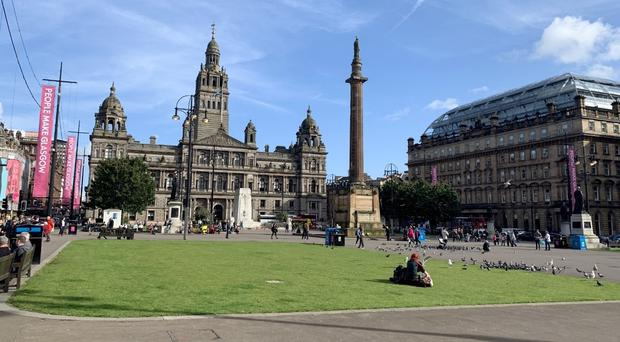 George Square is at the heart of Glasgow city centre (Lewis McKenzie/PA)