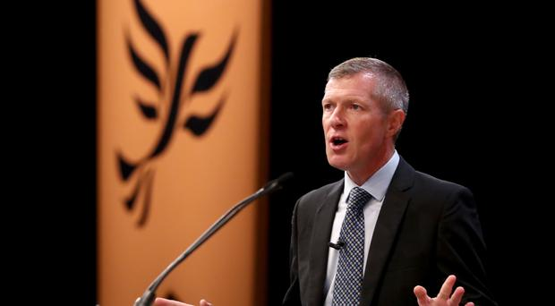 Willie Rennie urged centrist Labour voters to 'come with the Liberal Democrats' (Gareth Fuller/PA)