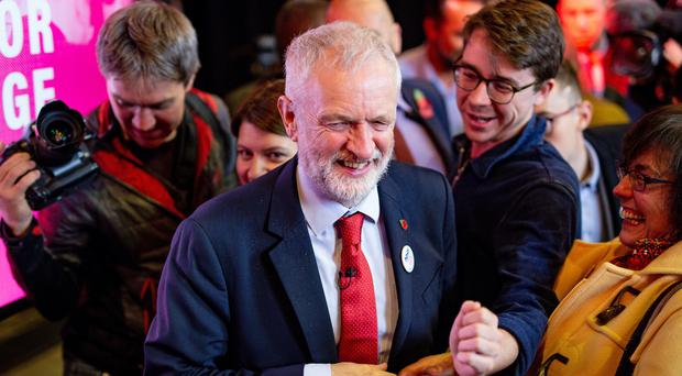 Labour Party leader Jeremy Corbyn speaks to supporters whilst on campaign trail in Liverpool (Jacob King/PA)