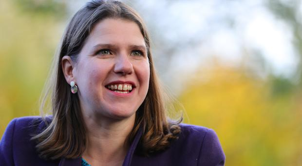 Liberal Democrats leader Jo Swinson during a visit to Free Rangers Nursery (Aaron Chown/PA)