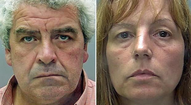 Angela Taylor and Paul Cannon have been jailed for 21 years for murdering William Taylor, her farmer husband (Hertfordshire Police/PA)