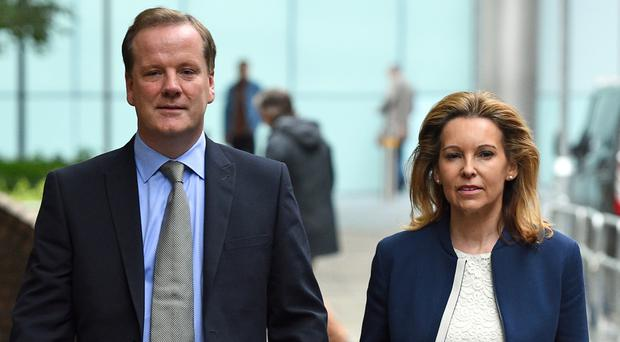 Charlie Elphicke with his wife Natalie (Kirsty O'Connor/PA)