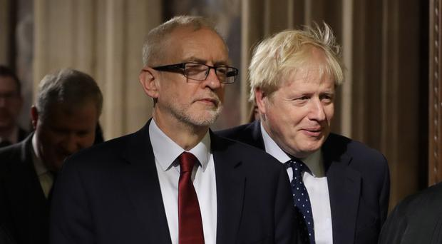 Prime Minister Boris Johnson (right) and Labour leader Jeremy Corbyn (Kirsty Wigglesworth/PA)