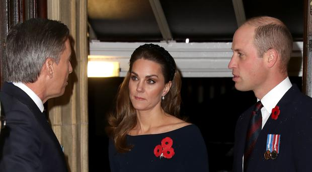 The Duke and Duchess of Cambridge attend the annual Royal British Legion Festival of Remembrance at the Royal Albert Hall Chris Jackson/PA)
