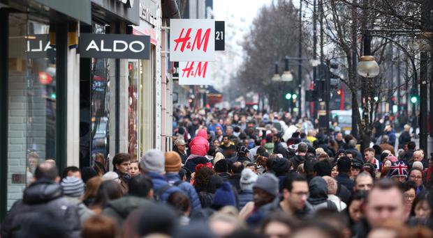 Shoppers shunned stores as the weather and Brexit kept people away (Isabel Infantes / PA)