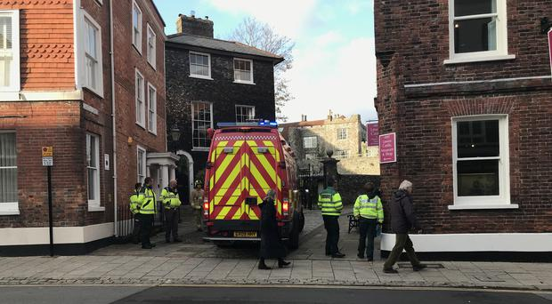 Emergency Services at Lewes Castle (Michael Drummond/PA)