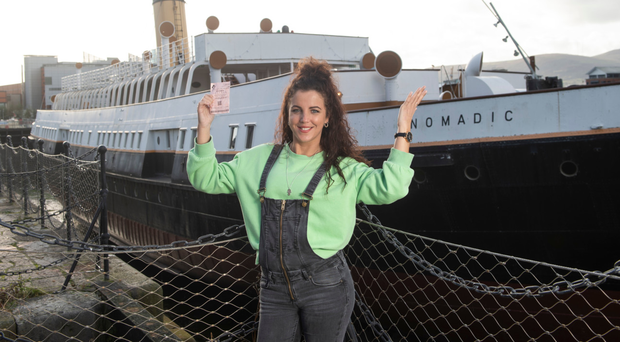 Derry Girls star Jamie-Lee O'Donnell at the SS Nomadic in Belfast