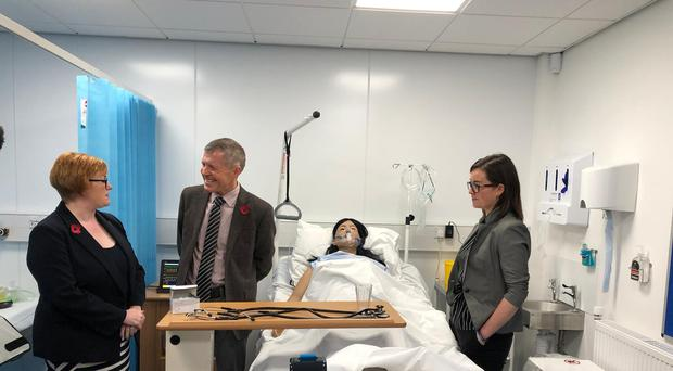 Mr Rennie unveiled the plan during a visit to Borders College in Galashiels (Scottish Liberal Democrats/PA)