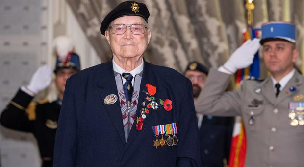William Allen after being presented with the Legion d'Honneur (Dominic Lipinski/PA)