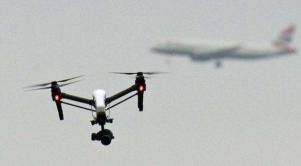 Drone sightings at Gatwick in December caused around 1,000 flights to be cancelled or diverted over 36 hours (John Stillwell/PA)