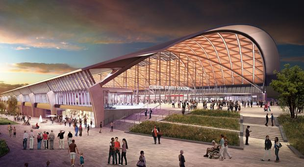 Phase 1 of HS2 is planned to run between London and Birmingham (Grimshaw Architects/PA)