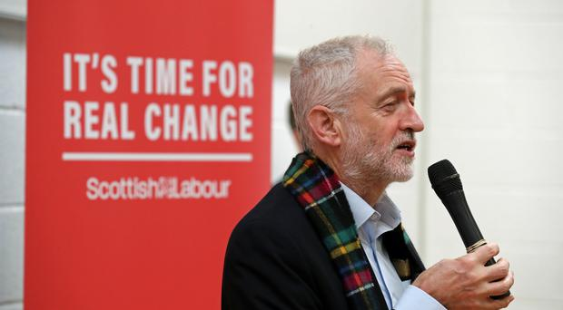 Labour leader Jeremy Corbyn has been campaigning in Glasgow (Andrew Milligan/PA)