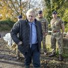 Prime Minister Boris Johnson during a visit to Stainforth, Doncaster (Danny Lawson/PA)