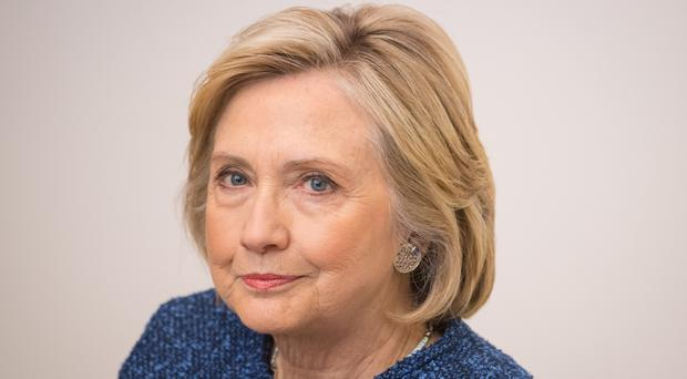 Hillary Clinton has condemned threats of violence against female politicians (Dominic Lipinski/PA)