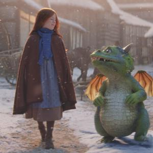 'Excitable Edgar' and Ava, the stars of the first joint John Lewis and Waitrose Christmas ad campaign (John Lewis and Waitrose/PA)