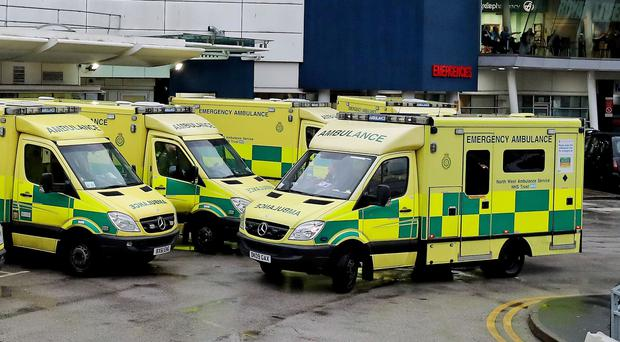Ambulances outside an Accident and Emergency Department