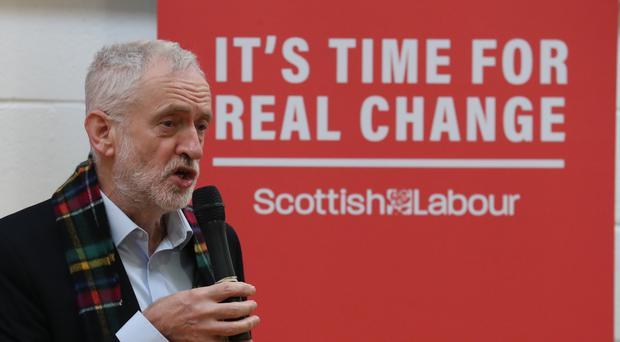 Jeremy Corbyn was addressing supporters in Dundee (Andrew Milligan/PA)