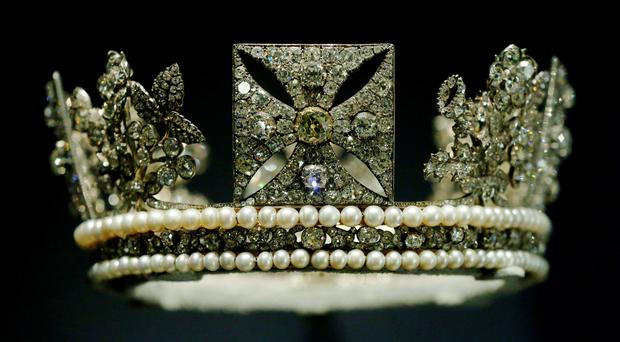 The Diamond Diadem, commissioned by George IV for his coronation, is to go on show in the Royal Collection's George IV: Art and Spectacle exhibition (Jonathan Brady/PA)