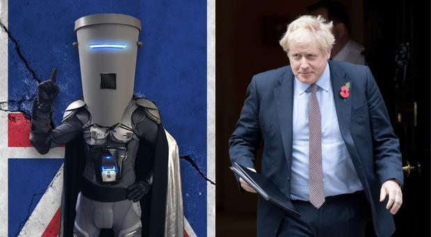 Count Binface and Boris Johnson, who will both run in the 2019 general election in the Uxbridge and South Ruislip area (Count Binface and Rick Findler/PA)