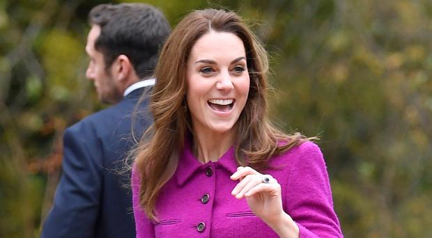 The Duchess of Cambridge during a visit to The Nook in Framingham Earl, Norfolk (Toby Melville/PA)