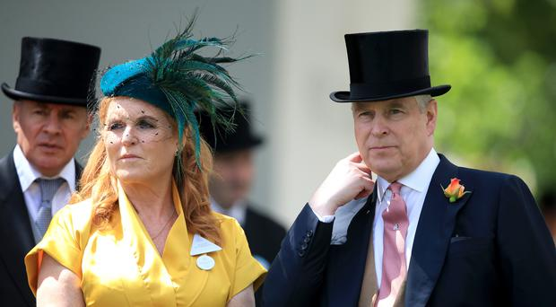 Sarah, Duchess of York and The Duke of York during day four of Royal Ascot at Ascot Racecourse (Adam Davy/PA)