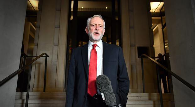 Labour leader Jeremy Corbyn claims the Tories have been in 'secret talks' about the future of the NHS (PA)