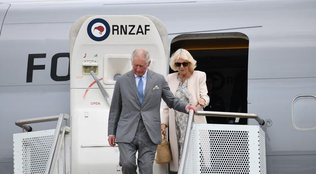 The Prince of Wales and the Duchess of Cornwall have arrived in New Zealand (New Zealand Government handout/PA)