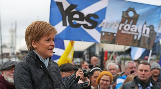 The SNP has unveiled pledges for older people, including reinstating free licence fees for over 75s (Andrew Milligan/PA)
