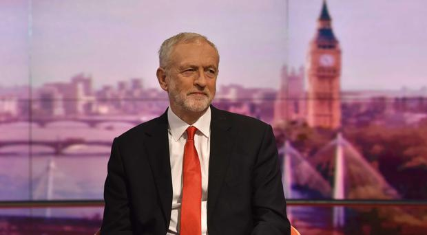 Labour leader Jeremy Corbyn appearing on the BBC1 current affairs programme The Andrew Marr Show (Jeff Overs/BBC/PA)