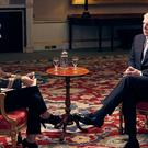 The Duke of York during his interview (Mark Harrison/BBC)