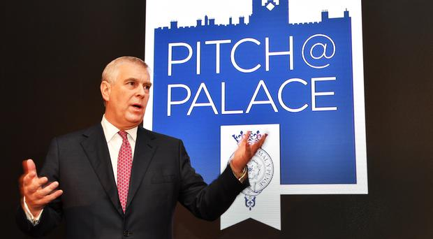 The Duke of York speaks during a Pitch@Palace event (John Stillwell/PA)