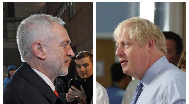 Jeremy Corbyn and Boris Johnson (PA)