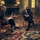 Prince Andrew speaking to BBC Newsnight's Emily Maitlis (Mark Harrison/BBC/PA)