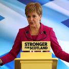 The First Minister said it would be 'a bit odd' if Jeremy Corbyn refused a second independence referendum (Andrew Milligan/PA)