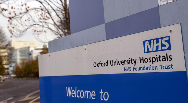 A sign for Oxford University Hospital NHS Foundation Trust (Steve Parsons/PA)