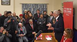 Jeremy Corbyn speaking at Dudley Pensioner Club (Joe Giddens/PA)