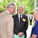 Prince Charles meeting Shona Mardle at Lincoln University, Christchurch (Mark Tantrum/PA)