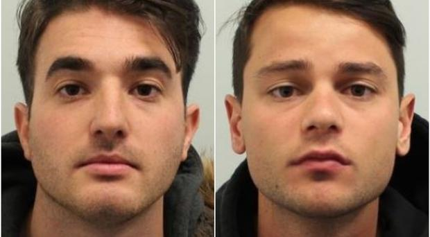Lorenzo Costanzo (left) and Ferdinando Orlando were found guilty of raping a woman at a Soho nightclub (Met Police/PA)