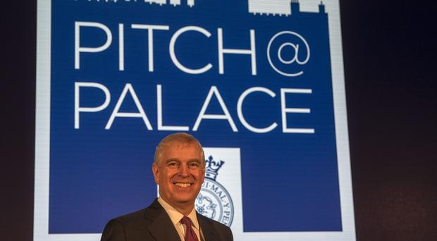 The Duke of York as he hosts a Pitch@Palace event at Buckingham Palace in London (Steve Parsons/PA)
