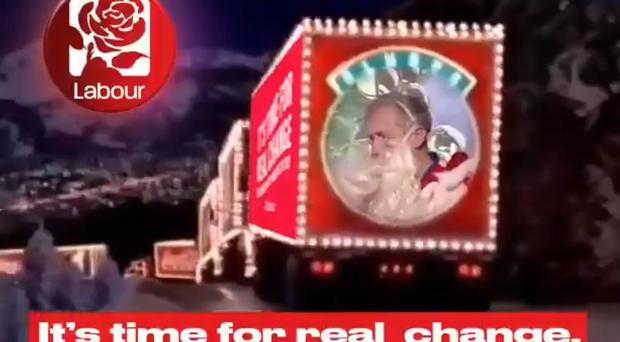 A spoof version of the Coca Cola advert (Momentum/PA)