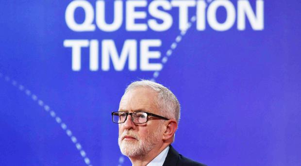 Jeremy Corbyn during the BBC Question Time Leaders' Special