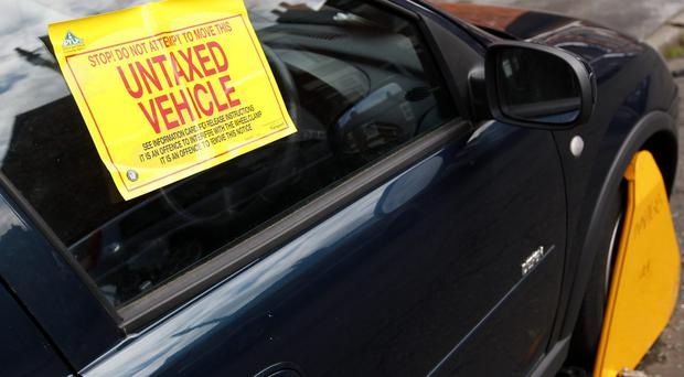 Almost 70,000 fines were issued for untaxed cars in Northern Ireland in 2018 - the second highest number in the UK behind London (Dave Thompson/PA)