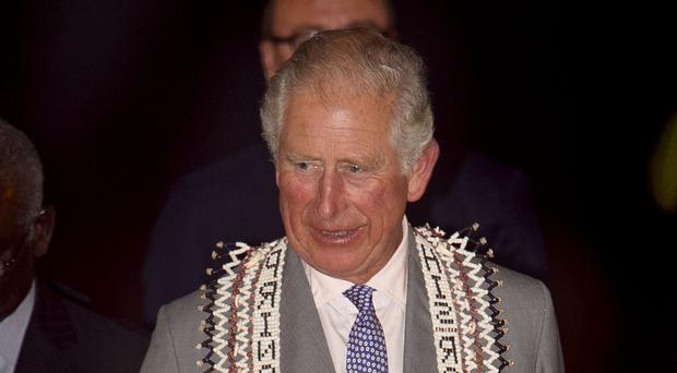 The Prince of Wales arrives at Honiara International Airport for the royal visit to the Solomon Islands (Tim Rook/PA)