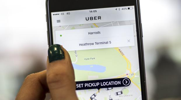 Transport for London found that at least 14,000 Uber trips were made with drivers who were different to the ones shown on the app (Lauren Hurley/PA)