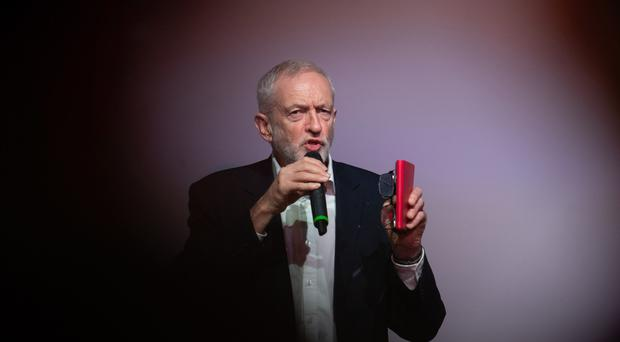 Labour Party leader Jeremy Corbyn at the launch of the party's youth manifesto at the Loughborough Students' Union in Loughborough.