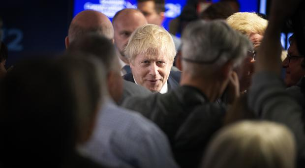 Prime Minister Boris Johnson at the launch of the Scottish Conservatives' manifesto (Jane Barlow/PA)