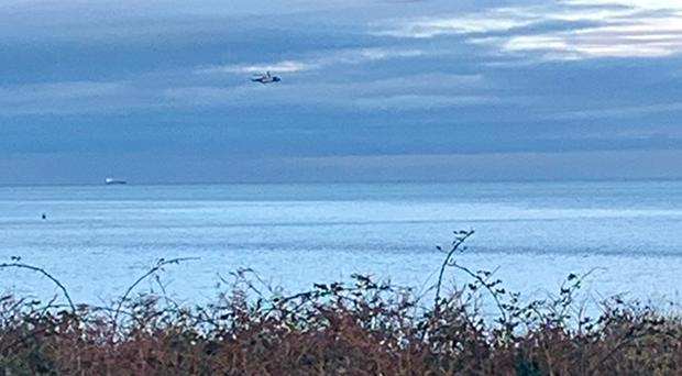 Scene of the search off the North Wales coast near Anglesey (NWP Anglesey/Facebook/PA)