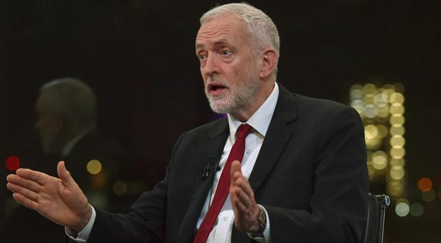 Jeremy Corbyn speaks to the BBC's Andrew Neil (Jeff Overs/BBC/PA)